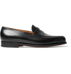John Lobb Lopez Leather Penny Loafers