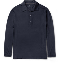 Derek Rose Basel Micromodal-Blend Polo Shirt