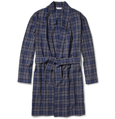 Derek Rose Ranga Plaid Cotton-Flannel Dressing Gown