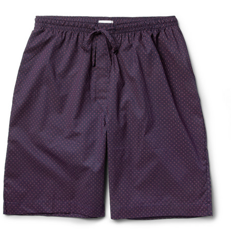 Derek Rose Arlo Printed Cotton Shorts