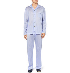 Derek Rose Bari Striped Cotton-Jersey Pyjama Set