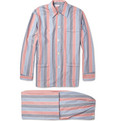 Derek Rose - Avonora Striped Cotton-Twill Pyjama Set