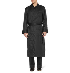 Derek Rose Lombard Woven-Cotton Robe