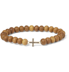 Luis Morais Diamond, Gold and Sandalwood Bracelet