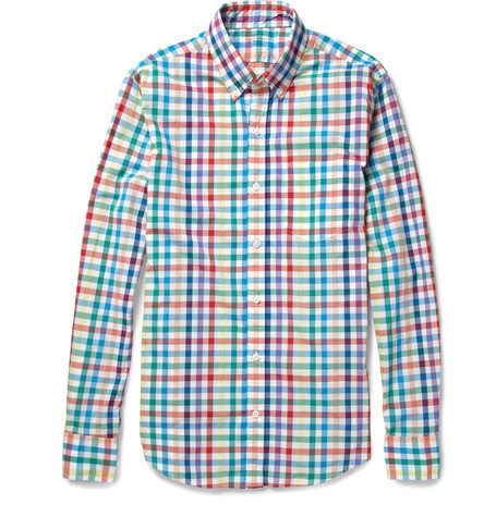 J.Crew Secret Wash Slim-Fit Check Cotton Shirt