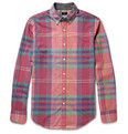 J.Crew Wyman Madras-Check Cotton Shirt