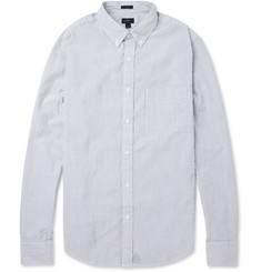 J.Crew Striped Cotton-Seersucker Shirt