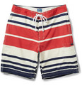 "J.Crew - 9"" Bold Striped Mid-Length Swim Shorts"