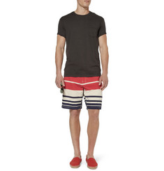 J.Crew Striped Mid-Length Swim Shorts