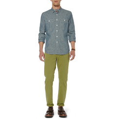 J.Crew Stanton Sun-Faded Cotton-Twill Chinos