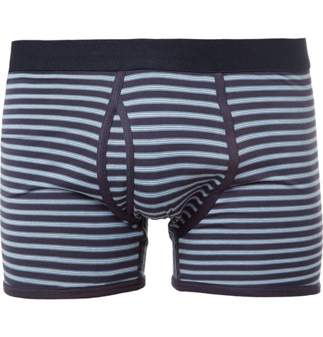 Sunspel Striped Cotton Boxer Briefs