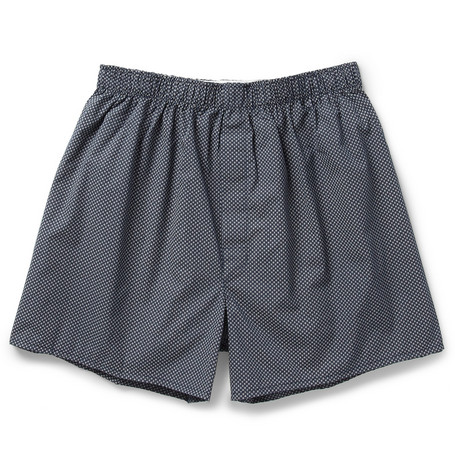Sunspel Printed Cotton Boxer Shorts