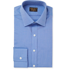 Emma Willis Blue Woven-Cotton Shirt