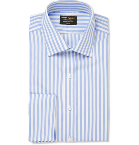 Emma Willis Blue Butcher's Stripe Cotton Shirt