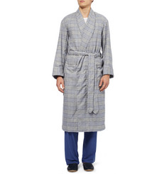 Emma Willis Glen Plaid Cotton-Flannel Dressing Gown
