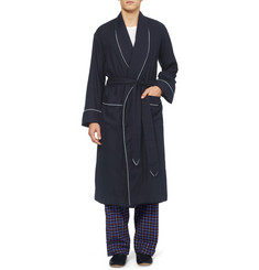 Emma Willis Cotton and Wool-Blend Dressing Gown
