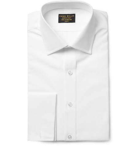 Emma Willis White Slim-Fit Double-Cuff Cotton Shirt