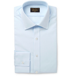 Emma Willis Blue Slim-Fit Cotton Shirt