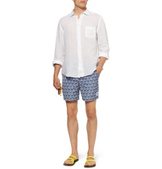 Robinson les Bains Mid-Length Anchor-Print Swim Shorts
