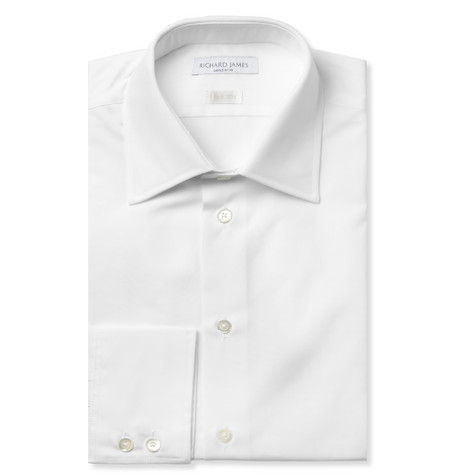 Richard James White Cotton-Poplin Shirt