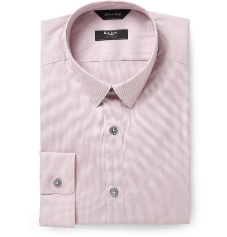 Paul Smith London Red Byard Check Cotton-Blend Shirt