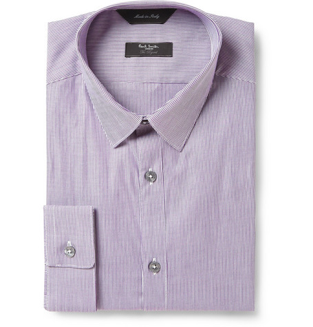 Paul Smith London Purple Byard Striped Cotton Shirt