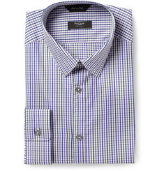 Paul Smith London Purple Byard Check Cotton Shirt