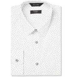 Paul Smith London White Byard Heart-Print Cotton Shirt