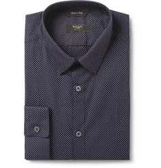 Paul Smith London Blue Dot-Print Cotton Shirt