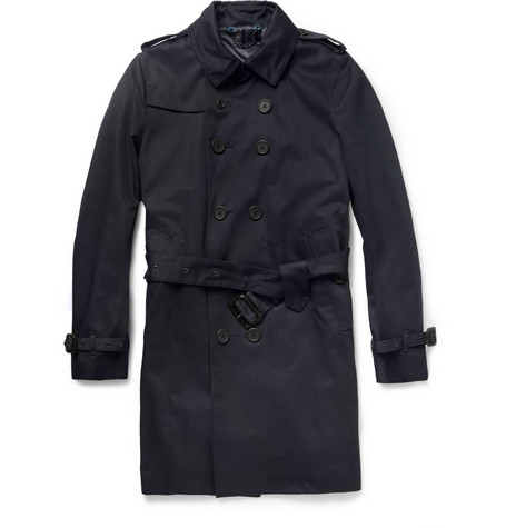 Paul Smith London Double-Breasted Twill Trench Coat