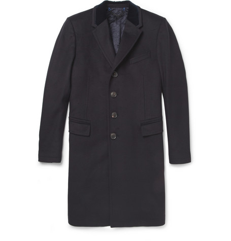 Paul Smith London Quilted Wool Overcoat