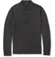 Paul Smith London Fine-Knit Merino Wool Polo Shirt