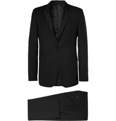 Paul Smith London Black Grosgrain-Trimmed Wool-Blend Tuxedo