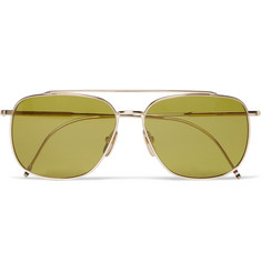 Thom Browne Polarised Metal Aviator Sunglasses
