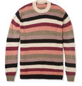 Junya Watanabe Striped Wool and Mohair-Blend Sweater