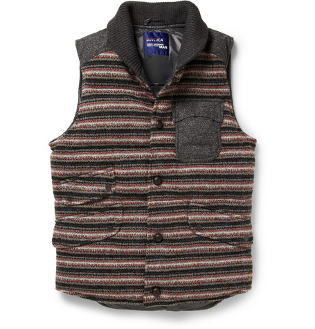 Junya Watanabe Duvetica Down-Filled Wool-Blend Gilet