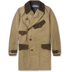 Junya Watanabe Twill-trimmed cotton coat