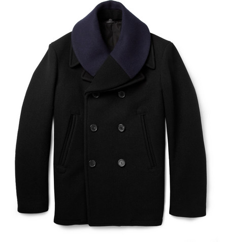 Jil Sander Detachable-Collar Wool Peacoat