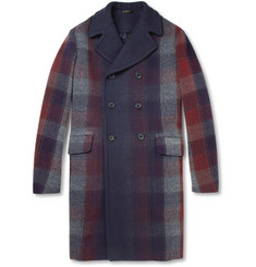 Jil Sander Degradé Plaid Wool-Blend Coat