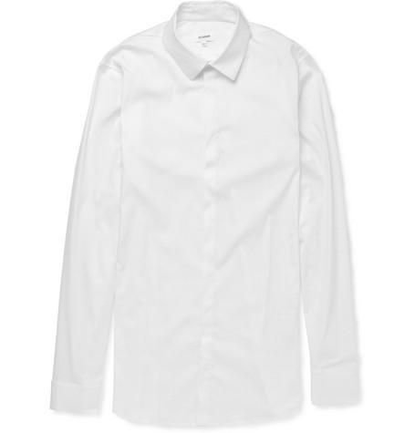 Jil Sander Slim-Fit Cotton-Blend Shirt
