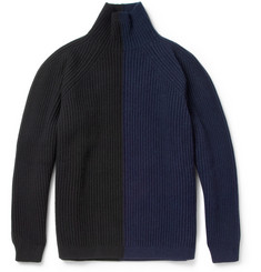 Jil Sander Colour-Block Wool and Cashmere-Blend Rollneck Sweater