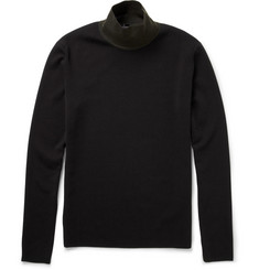 Jil Sander Slim-Fit Fine-Knit Wool-Blend Rollneck Sweater