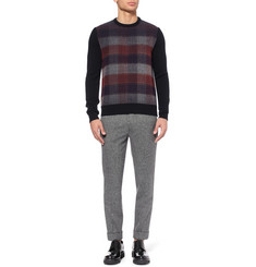 Jil Sander Plaid-Front Wool Sweater