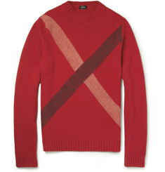 Jil Sander Striped Wool and Cashmere-Blend Sweater