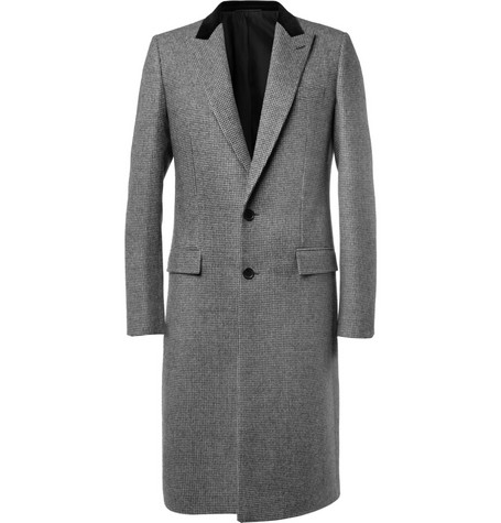 Balenciaga Slim-Fit Houndstooth Check Wool and Cotton-Blend Coat