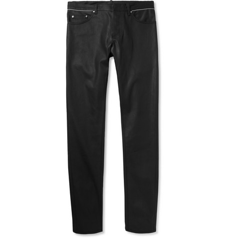 Balenciaga Slim-Fit Coated Denim Jeans