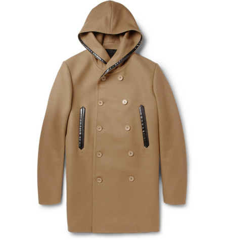 Balenciaga Wool-Blend Hooded Coat