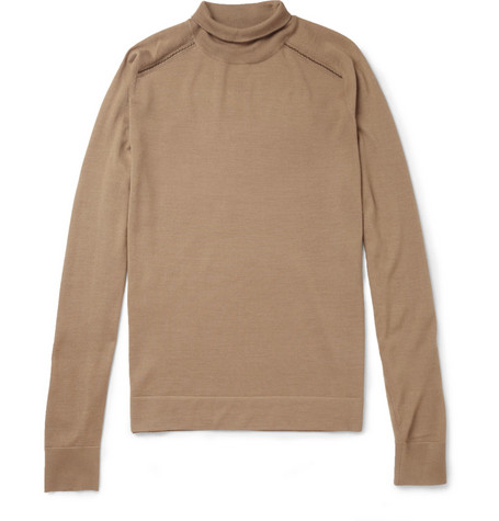 Balenciaga Wool, Silk and Cashmere-Blend Rollneck Sweater