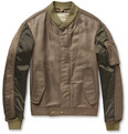 Balenciaga Panelled Bomber Jacket with Detachable Quilted Lining