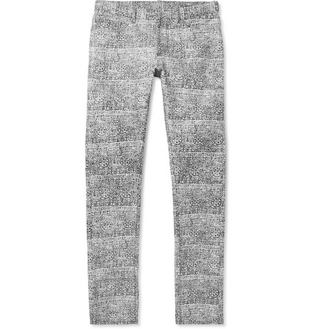 Balenciaga Slim-Fit Printed Cotton-Blend Jeans